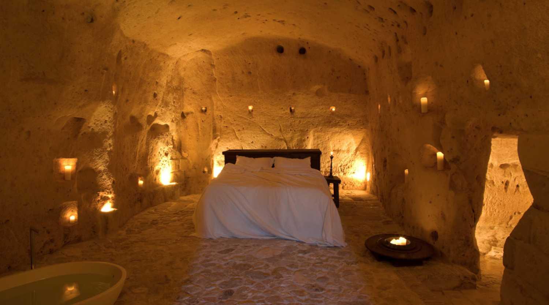 Häftiga hotell i grottor