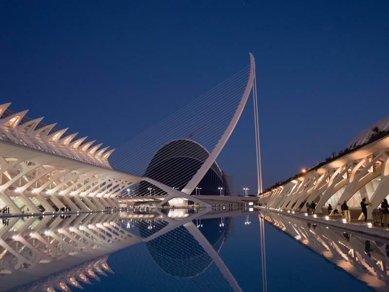 Ciuta de les Arts i les Ciències, Valencia, Spanien