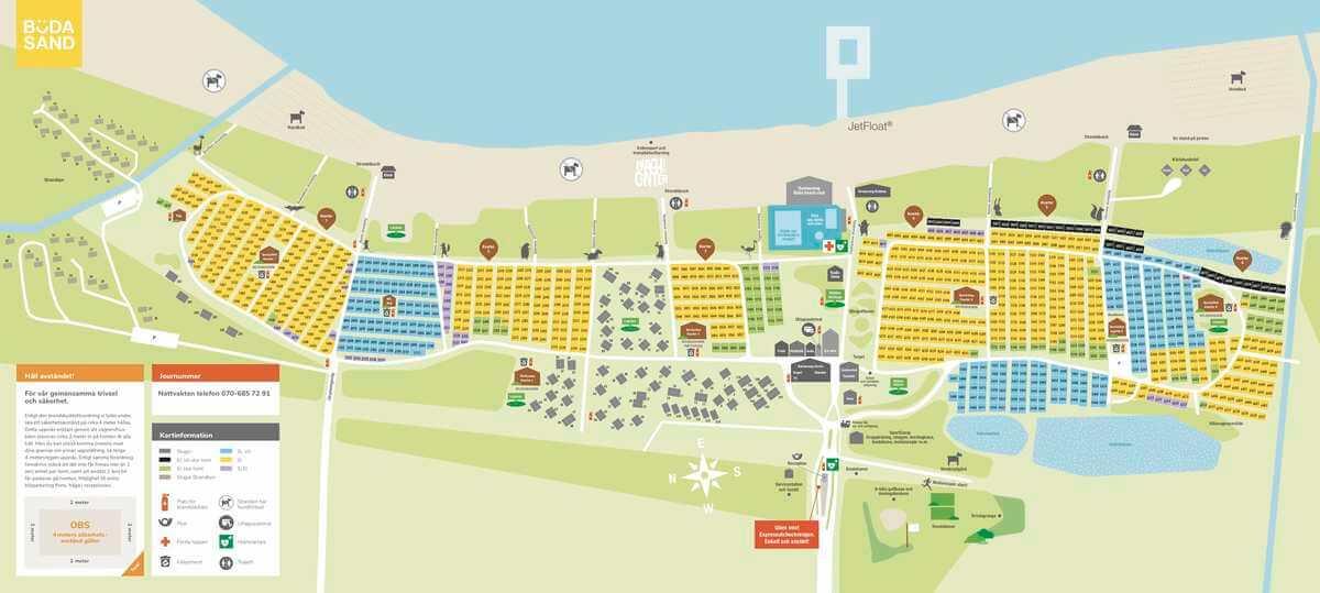 Böda Sand Camping - karta