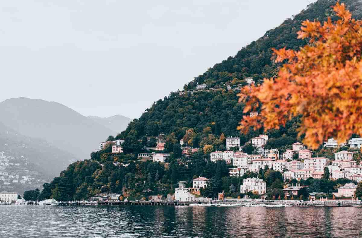 Comosjön i norra Italien
