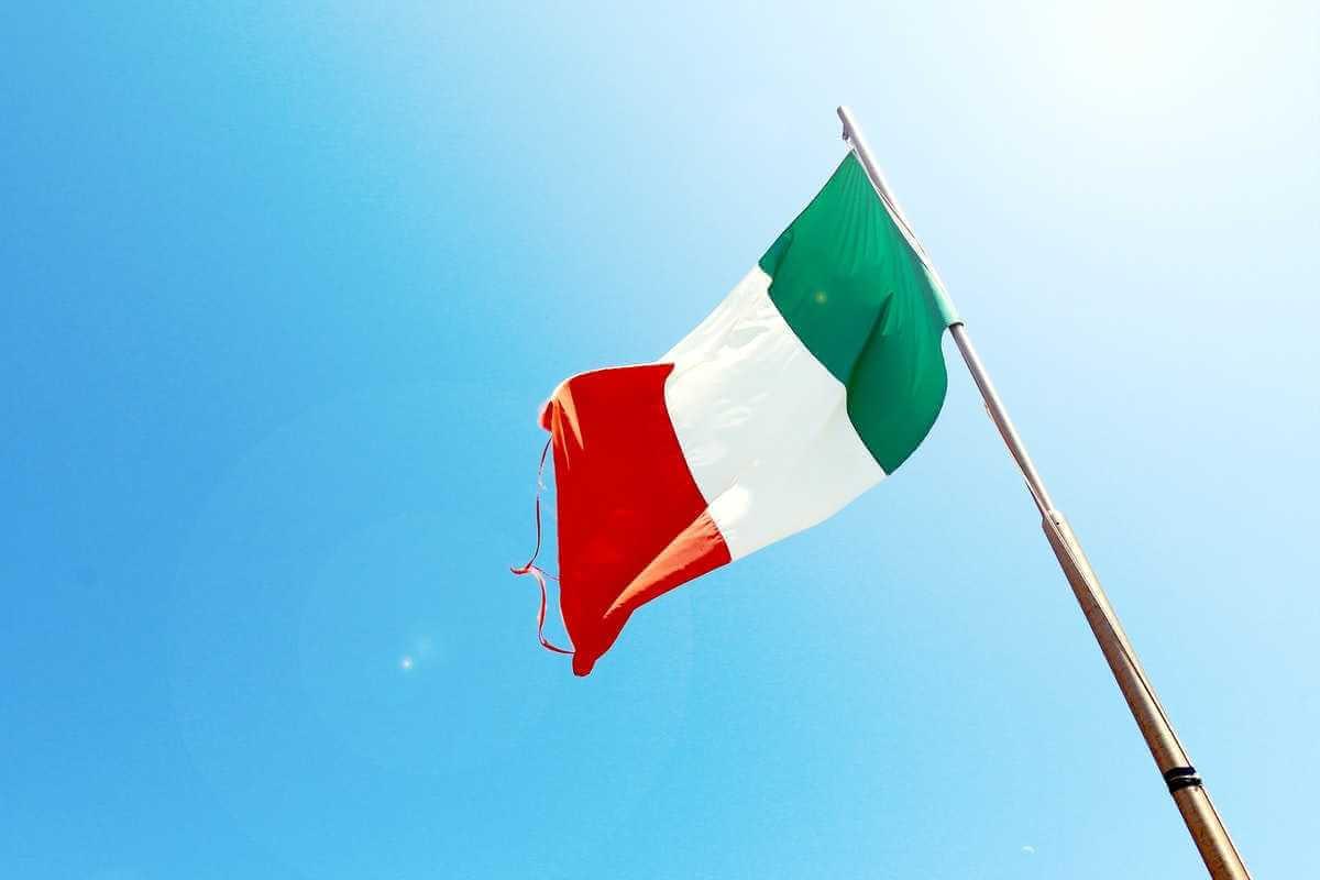 Resa till Italien - italiensk flagga